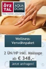 Wellness Verwöhnpaket im Aqua Dome Therme Längenfeld